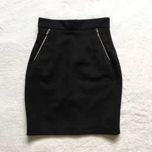 NWOT H&M Black Pencil Skirt Size 2